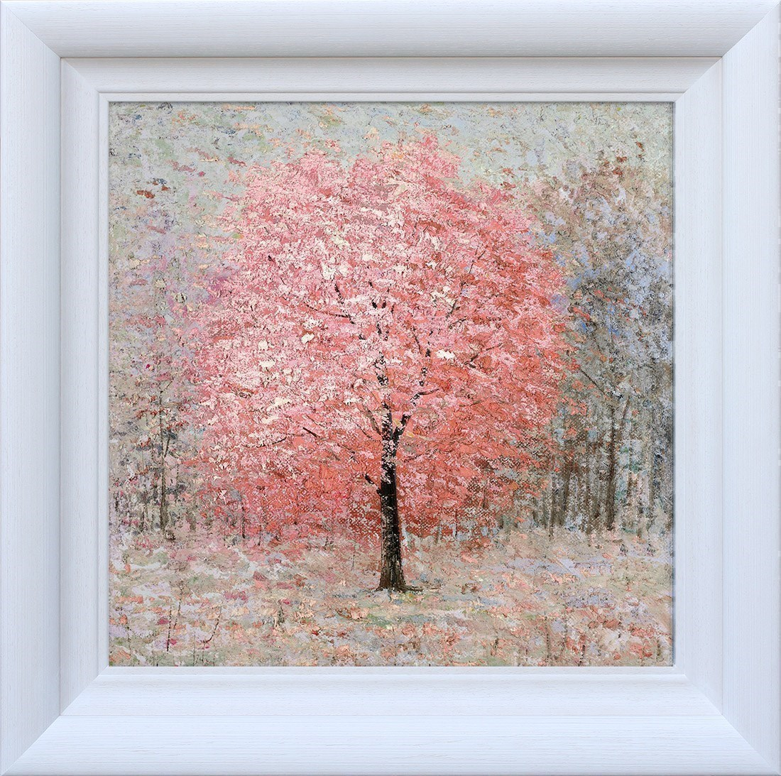 Shimmering Rose by Inam - Hand Finished Limited Edition on Canvas sized 23x23 inches. Available from Whitewall Galleries